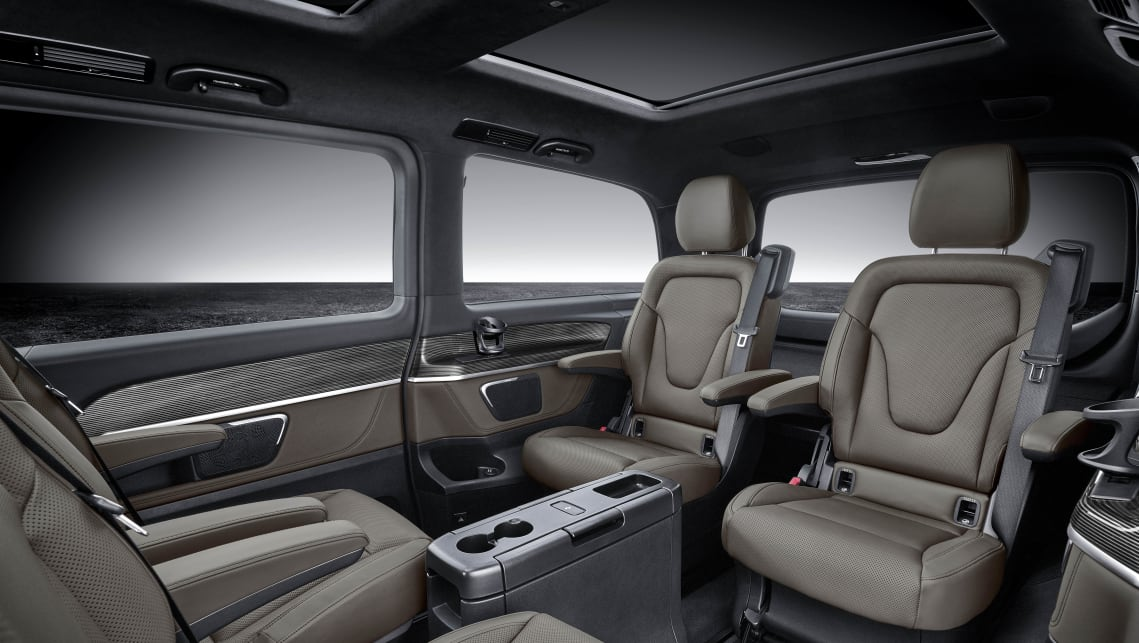 The V-Class is primarily aimed at being either a luxury people mover for private use...