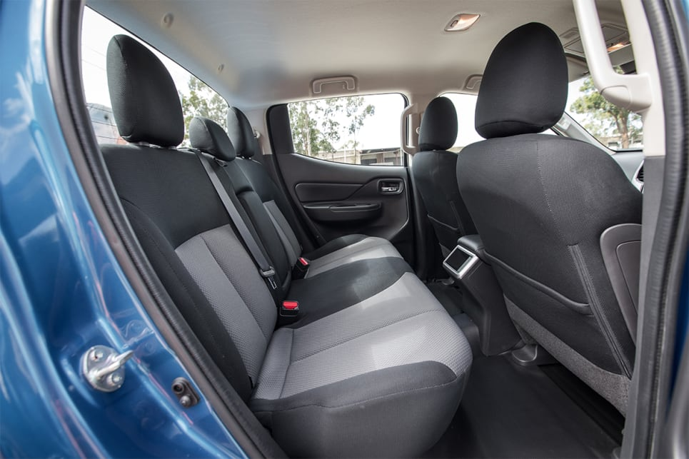 The interior of the Triton is more compacted, offering less space for second row occupants.