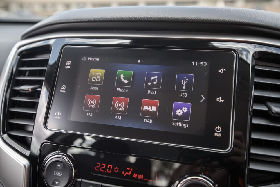 The 7.0-inch multimedia screen is equipped with Apple CarPlay and Android Auto.