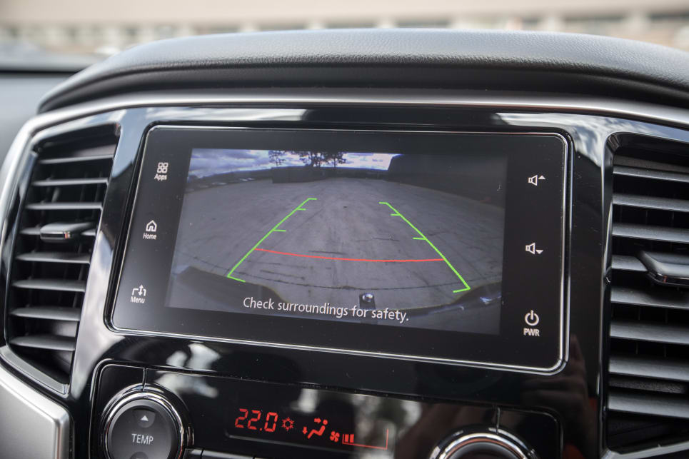 The Triton's has a reversing camera with rear parking sensors.
