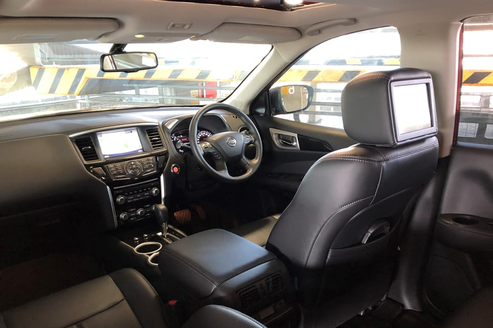 The Ti variant gets sat-nav, a DVD player, three-zone entertainment system, and heated and cooled front seats.