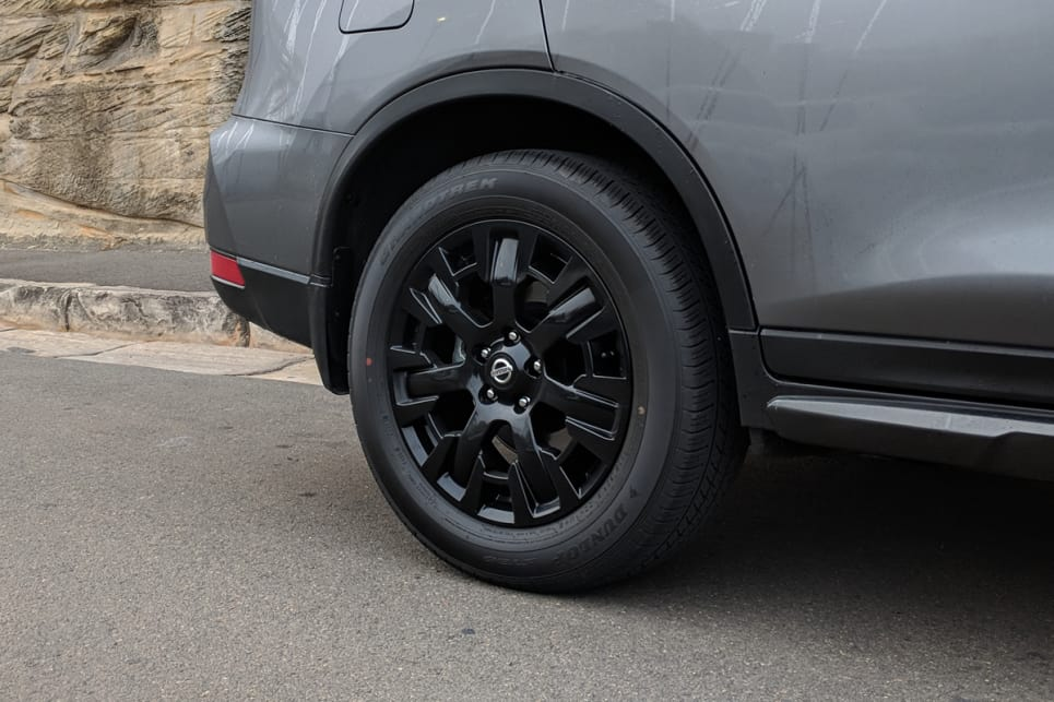 The N-Sport comes standard with a set of 18-inch black alloy wheels.