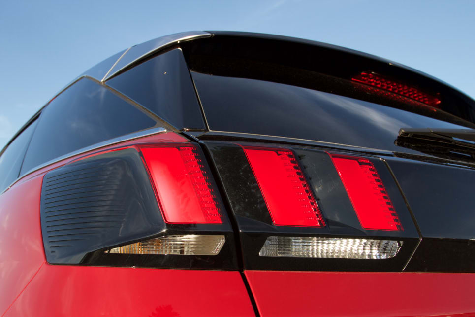 I'ts claw taillights are distinctive.
