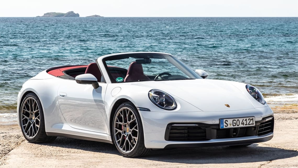 The all-wheel drive Carrera 4S Cabriolet launches at $302,600.