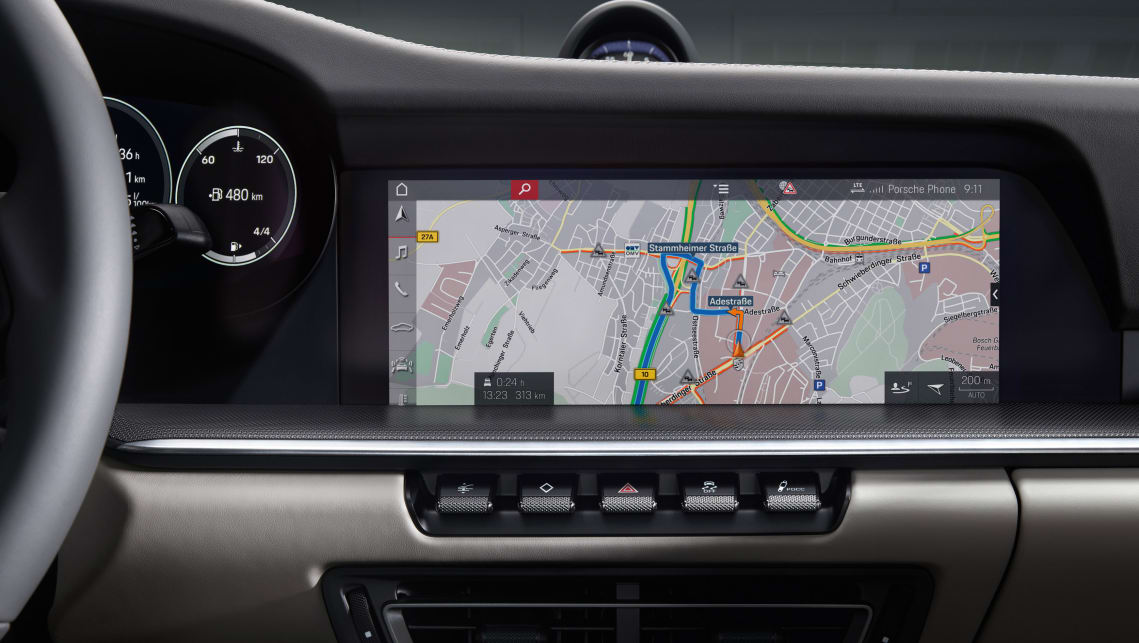 A new 10.9-inch touch screen sits in the dash.