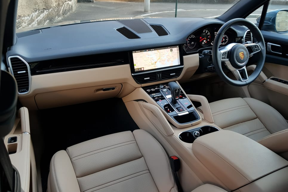 The two-tone black and 'Mojave Beige' interior made for a warm vibe along the route.