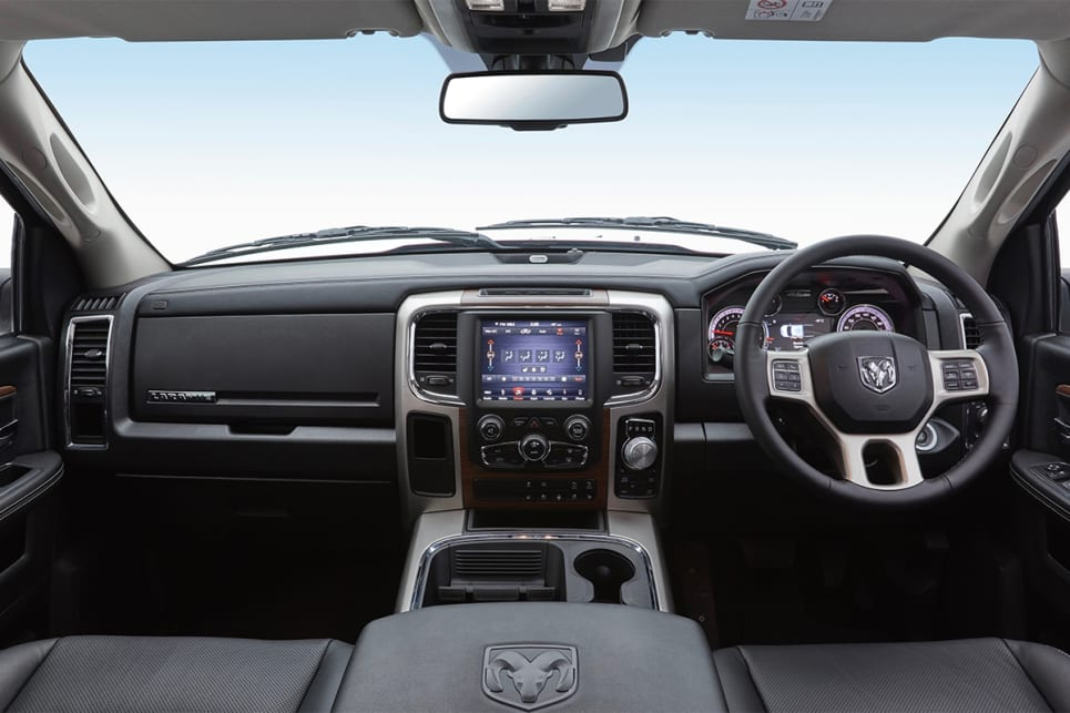 The Laramie scores larger 8.4-inch multimedia screen.