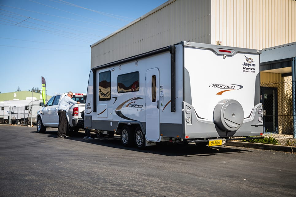 We towed a Jayco Journey Touring caravan thanks to our mates at Jayco Nowra. (image: Glen Sullivan)