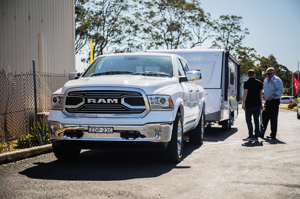 We selected Tow/Haul mode on the Ram, which adjusts a number of parameters. (image: Glen Sullivan)