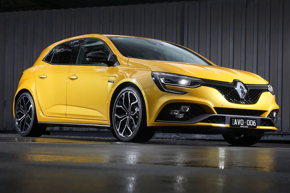 For just over half the price of an RS 3, the new Megane R.S. does a lot better in the muscular looks stakes. (EDC automatic transmission variant pictured)