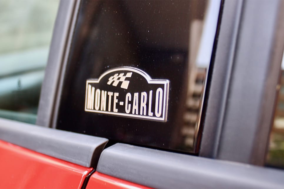 On the B-pillars and doors sills are Monte Carlo badges.