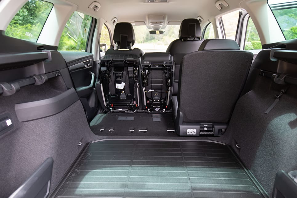 Skoda's 'VarioFlex'  system allows you to reconfigure the back seats to get more boot space.
