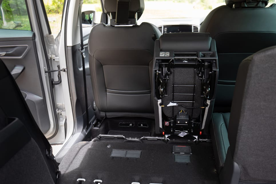 You can actually remove the back seats altogether for a van-load of space.