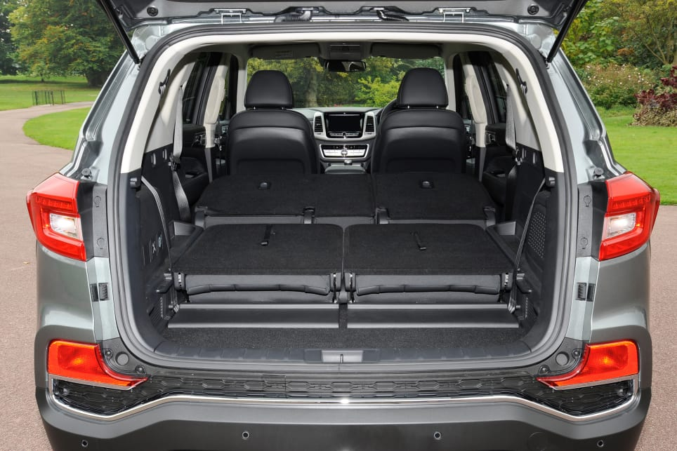 Fold both rows of seats and the Rexton offers 1806 litres of space.