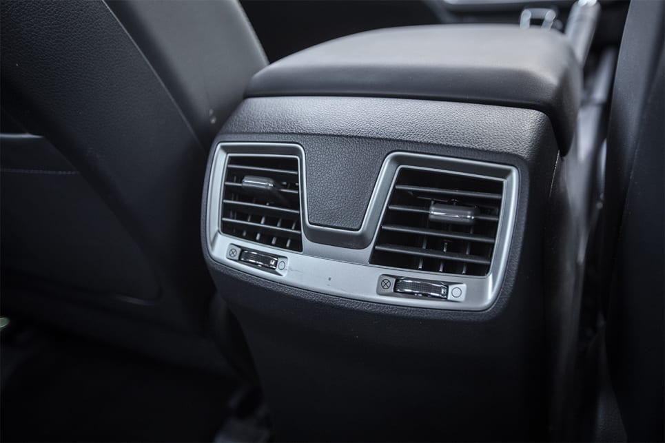 Unlike the Triton, the Musso offers rear-seat air vents.