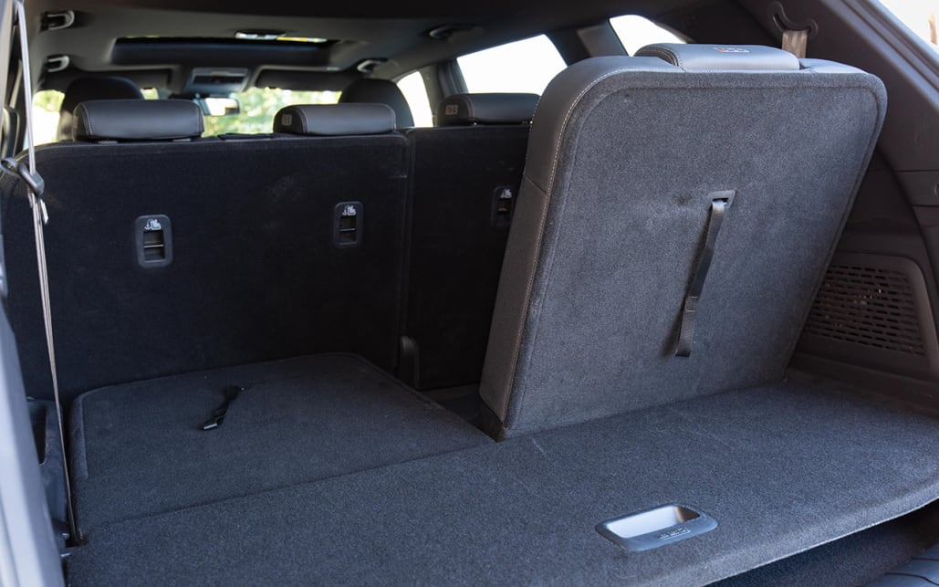 The boot, like all seven-seat SUVs, is small when all seven seats are in use, at 295L.