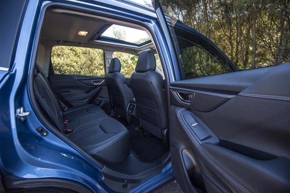 The best application of a large sunroof here is the Subaru, because it barely eats into headroom because of the car's high ceiling. (image credit: Dean Johnson)