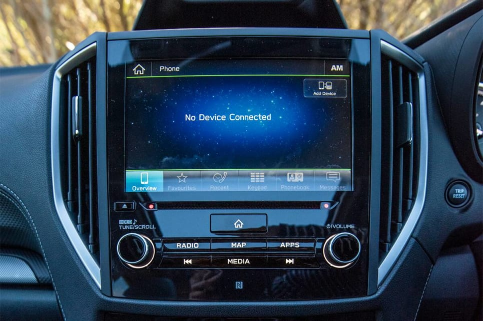 The Subaru's screen offers the best responsiveness, the best clarity, the best resolution and the most logical menus and controls. (image credit: Dean Johnson)