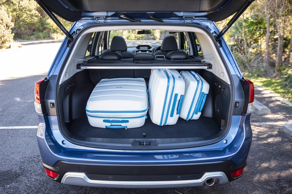 Even with three suitcases on board, the Forester still has boot space for other things. (image credit: Dean McCartney)