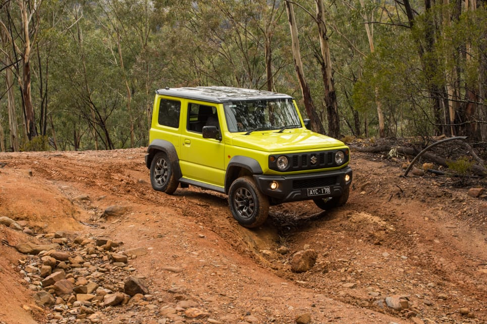 The Jimny is so tall and narrow for its size that it is vulnerable, more so than most 4WDs, to sudden changes in direction, forced or intentional. (image: Brendan Batty)