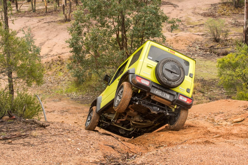 The Jimny has a part-time 4WD system and its AllGrip Pro suite of driver-assist tech includes hill descent control, hill hold assist and more. (image: Brendan Batty)
