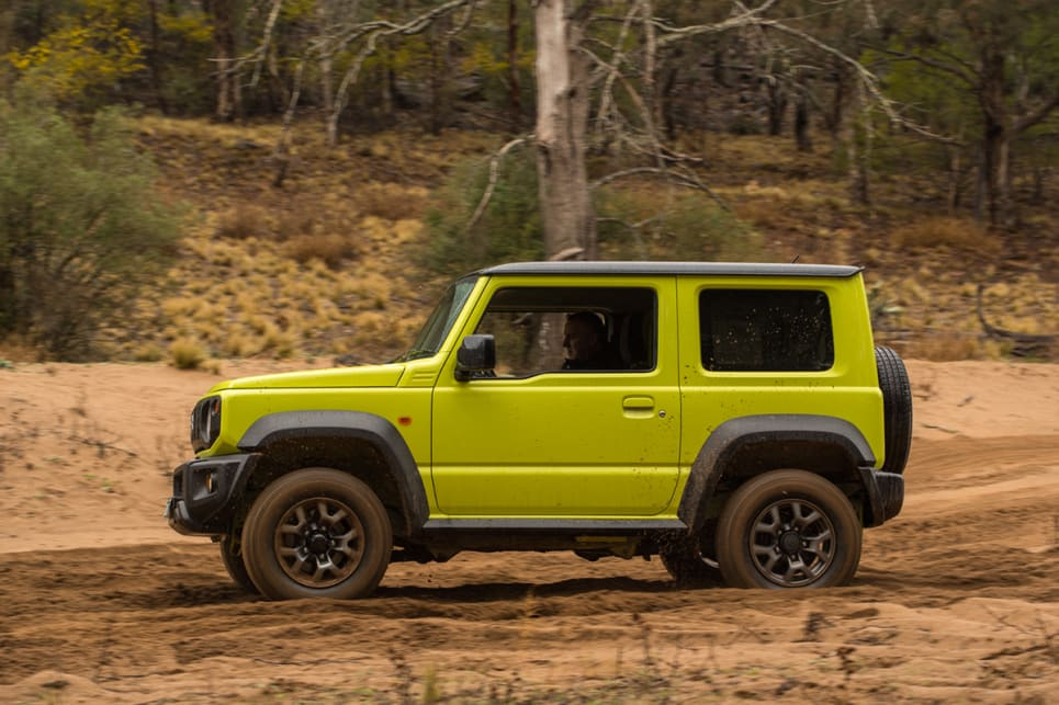 The Jimny has 210mm of ground clearance so lumpier sections of sand aren't an issue. (image: Brendan Batty)