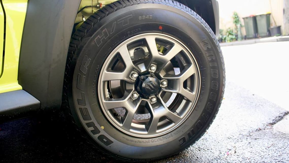The Jimny features 15-inch alloy wheels.