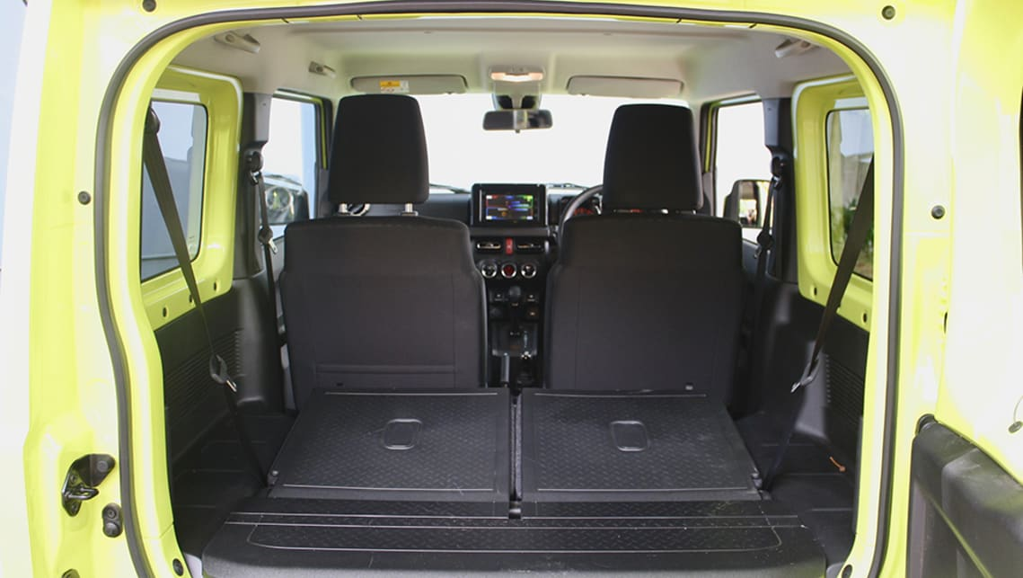 When you lower the back seats there's a decent boot capacity of 377 litres (VDA).