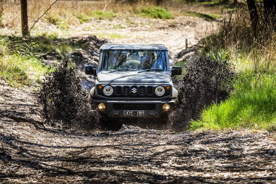 The Jimny has an extra 10mm of ground clearance.