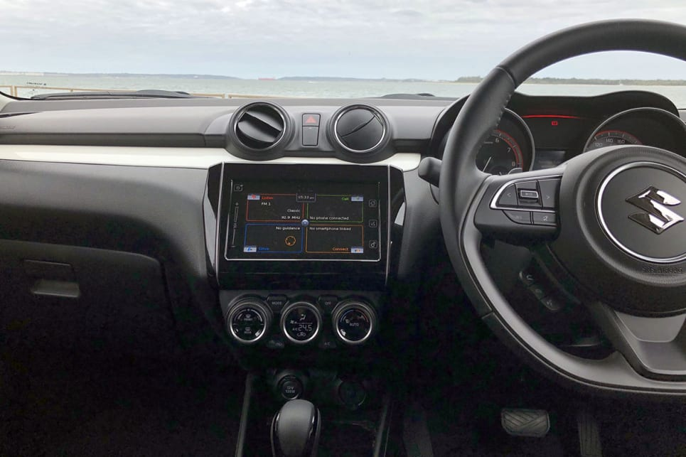 The GLX turbo has a leather steering wheel.