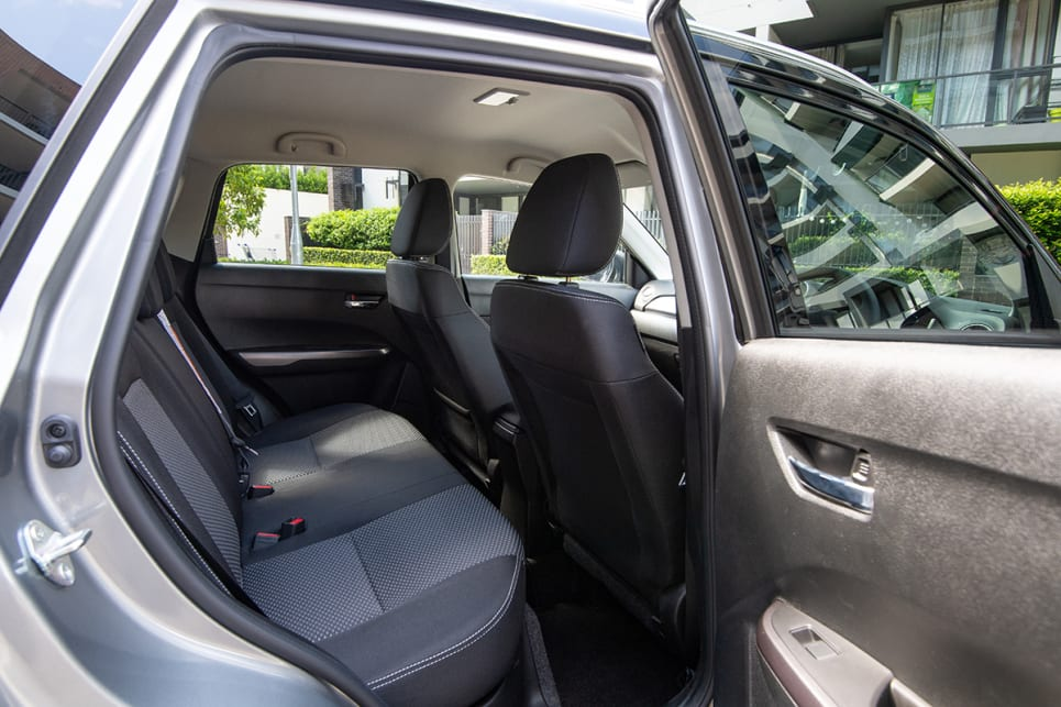 The best for back seat space is the Vitara, which offers excellent room for this size of car.