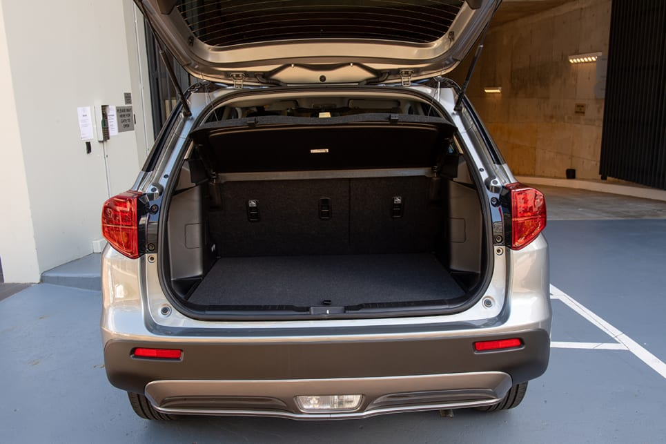 The Suzuki has 375L (VDA) of boot space.