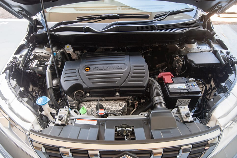 The Vitara's 1.6-litre four-cylinder produces 156Nm of torque at at 4400rpm.