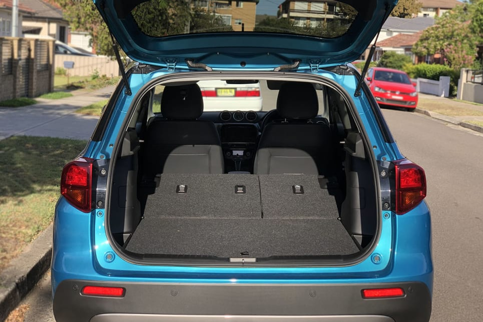 Push down the rear seats and space increases to 1120 litres.