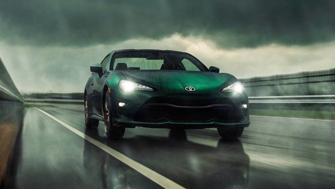 Toyota has launched a limited edition version of the 86 sports car in the US with dark green paint.