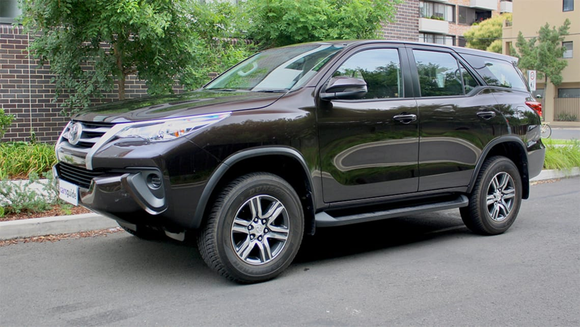 The Toyota Fortuner GX is the most affordable version of this seven-seat SUV.
