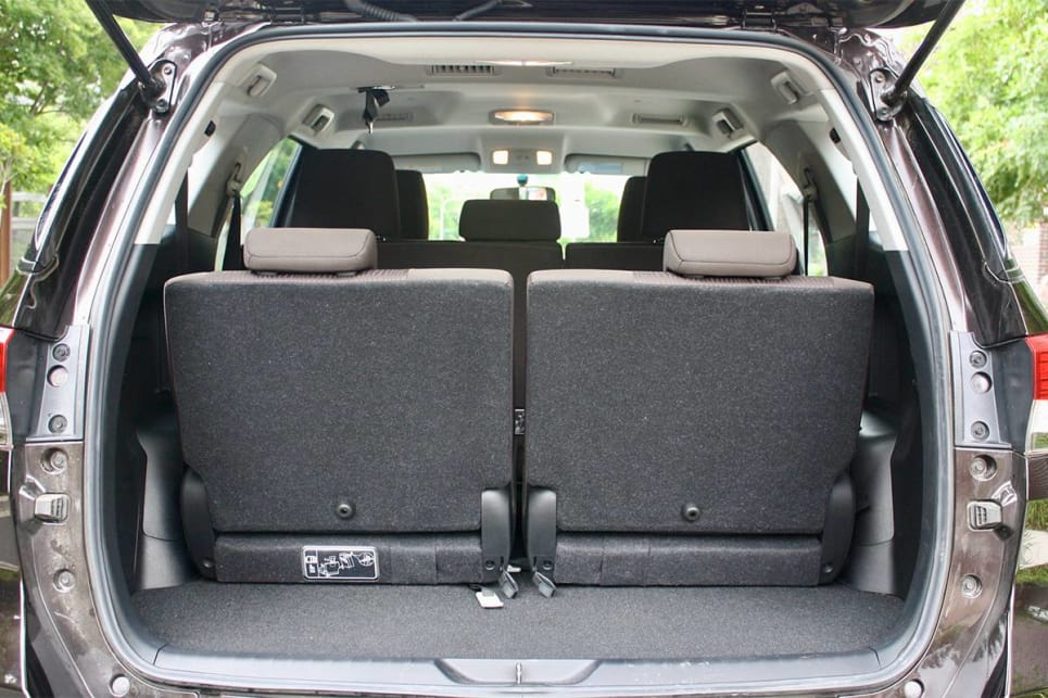 With all seven seats in play, there's 200 litres of cargo room.