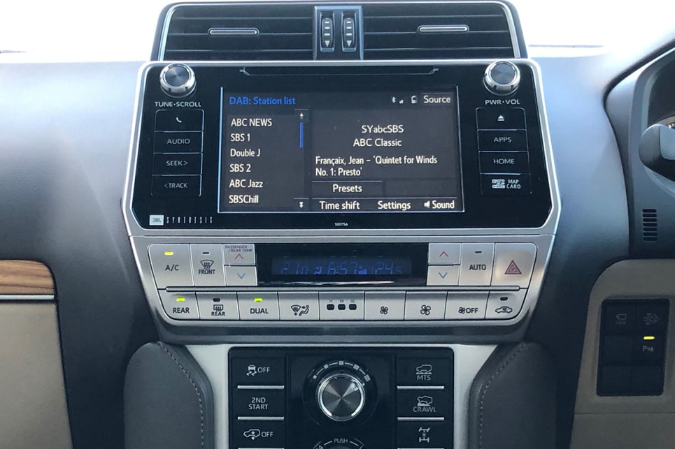 The 8.0-inch touchscreem is the usual tragic Toyota misstep - devoid of Apple CarPlay and Android Auto.