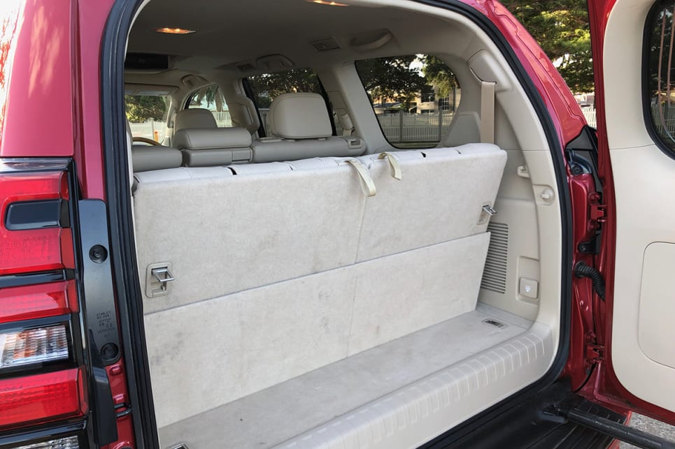 Your boot space starts with 120 litres with all seats in play.