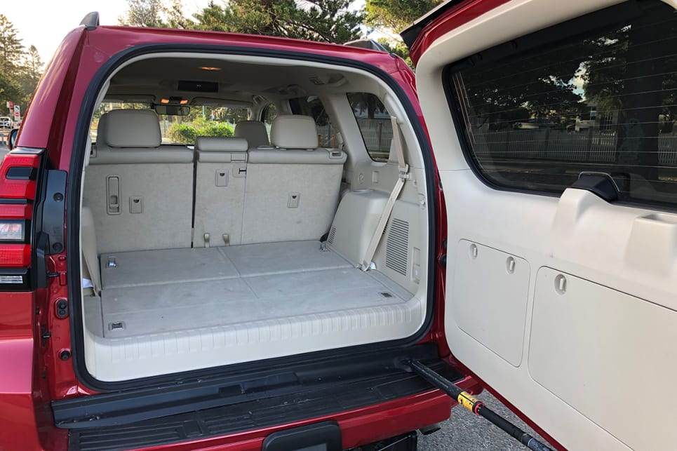 Boot space moves up to 480 litres with the rear seats folded down.