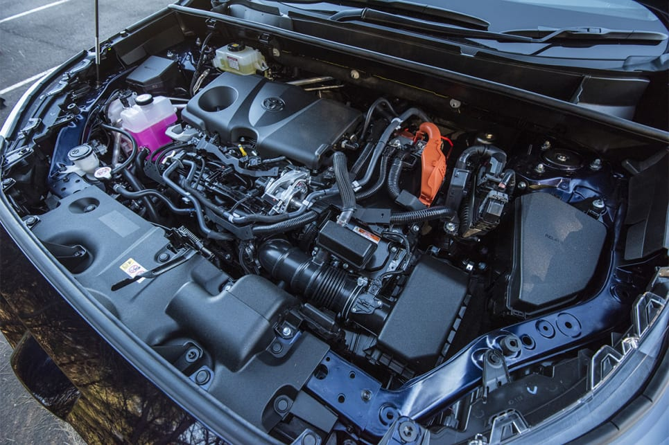 The RAV4's hybrid 2.5-litre engine has a combined output of 163kW. (image credit: Dean Johnson)