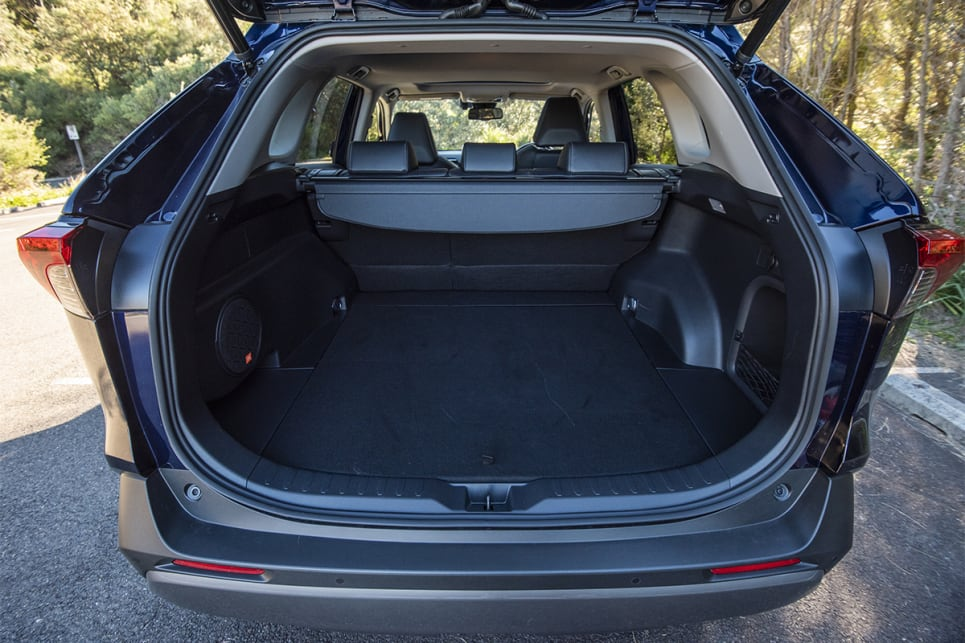 With the rear seats in place, the RAV4 has 580 litres of cargo space. (image credit: Dean McCartney)