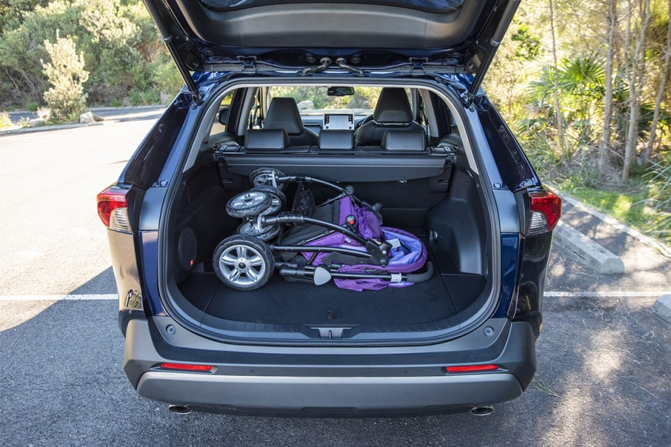 Even with a pram in the back, the RAV4 has space to spare. (image credit: Dean McCartney)