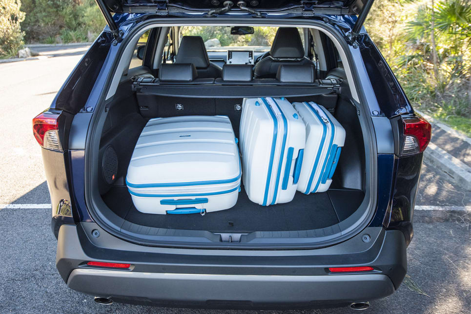 Holding three suitcases isn't a problem for the RAV4. (image credit: Dean McCartney)
