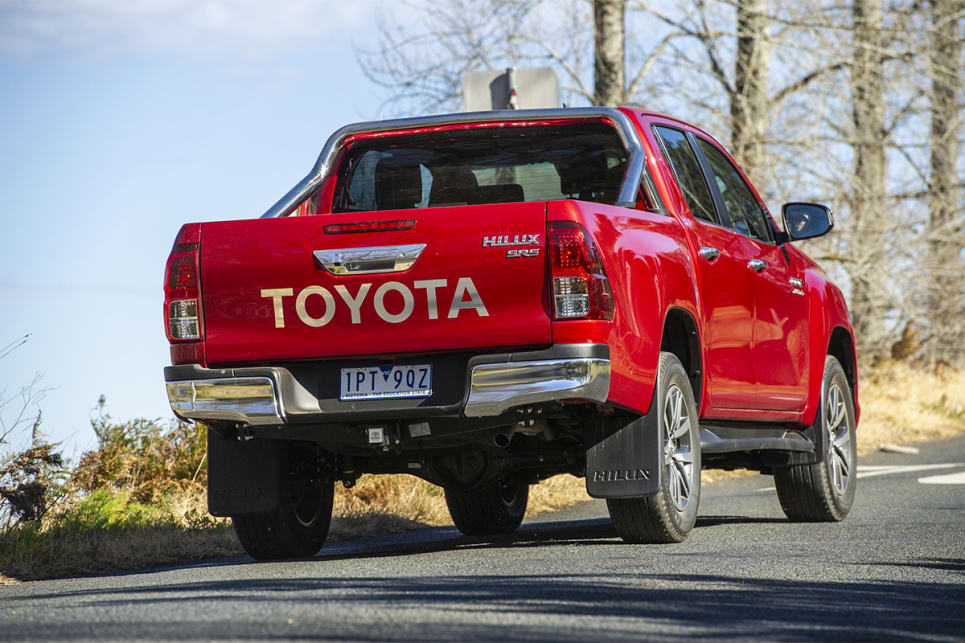 The HiLux's engine felt a bit lethargic, but the six-speed auto didn't do a bad job in most instances.