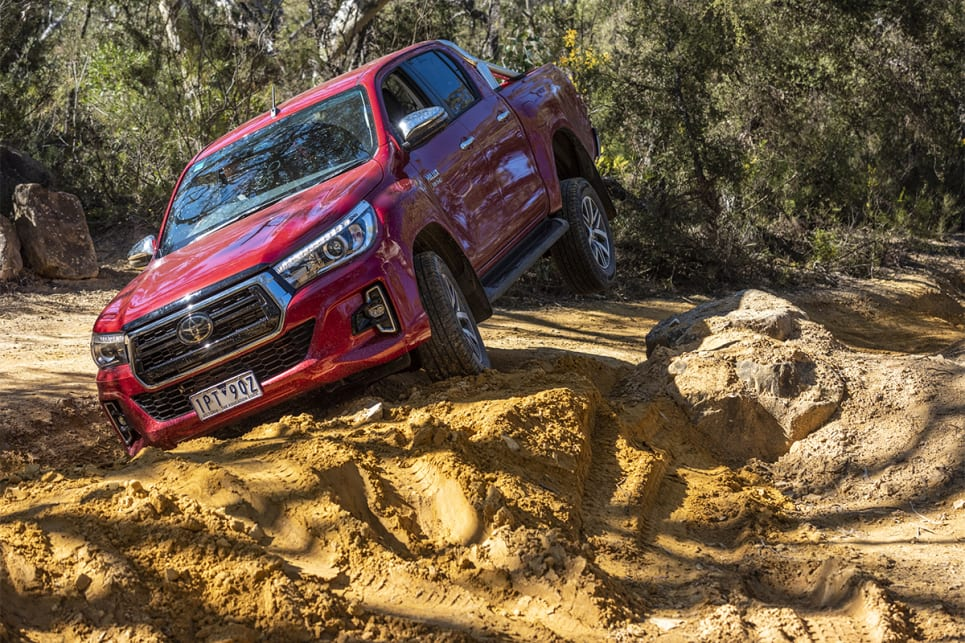 With bush-ready low-range gearing, a tractable turbo-diesel engine and a brutally effective 4WD set-up, the HiLux once again proved its superiority off-road.