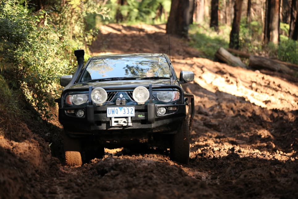 Mud Terrains are louder, less efficient, and not as grippy on the road. But that's not what they're made for.