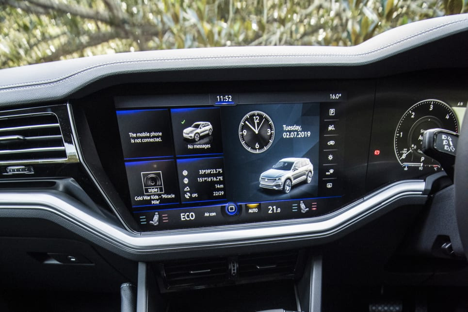 The VW has a huge optional screen