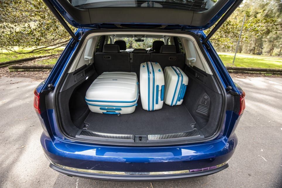 The VW has an expansive boot opening and wide load space