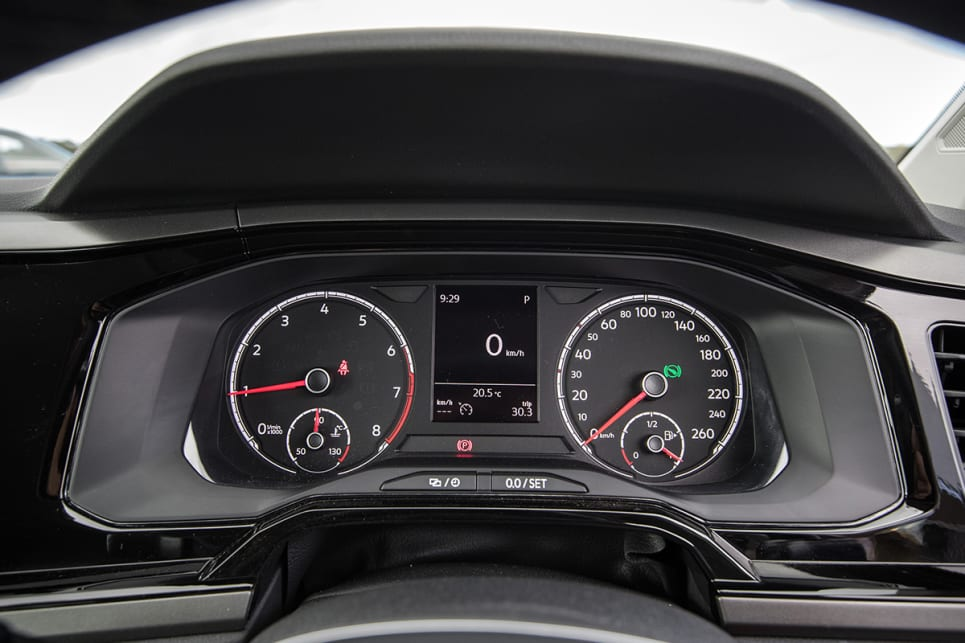 The only one with a digital speedometer as part of its MFD driver display.
